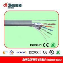 Linan Dongsheng cable de suministro de fábrica con 4 pares CCA / Cu Cat5e FTP Cable