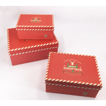 Disesuaikan Dicetak Rectangle Karton Christmas Gift Box