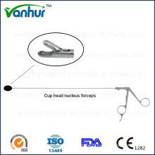 Instruments d'endoscopie transforamineuse lombaire Tête de coupe Pinces à Nucelus