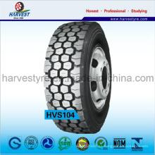 Patrón de bloque para minería utilizando neumáticos de camión
