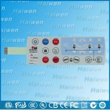 Кнопочный мембранный выключатель с поли куполом