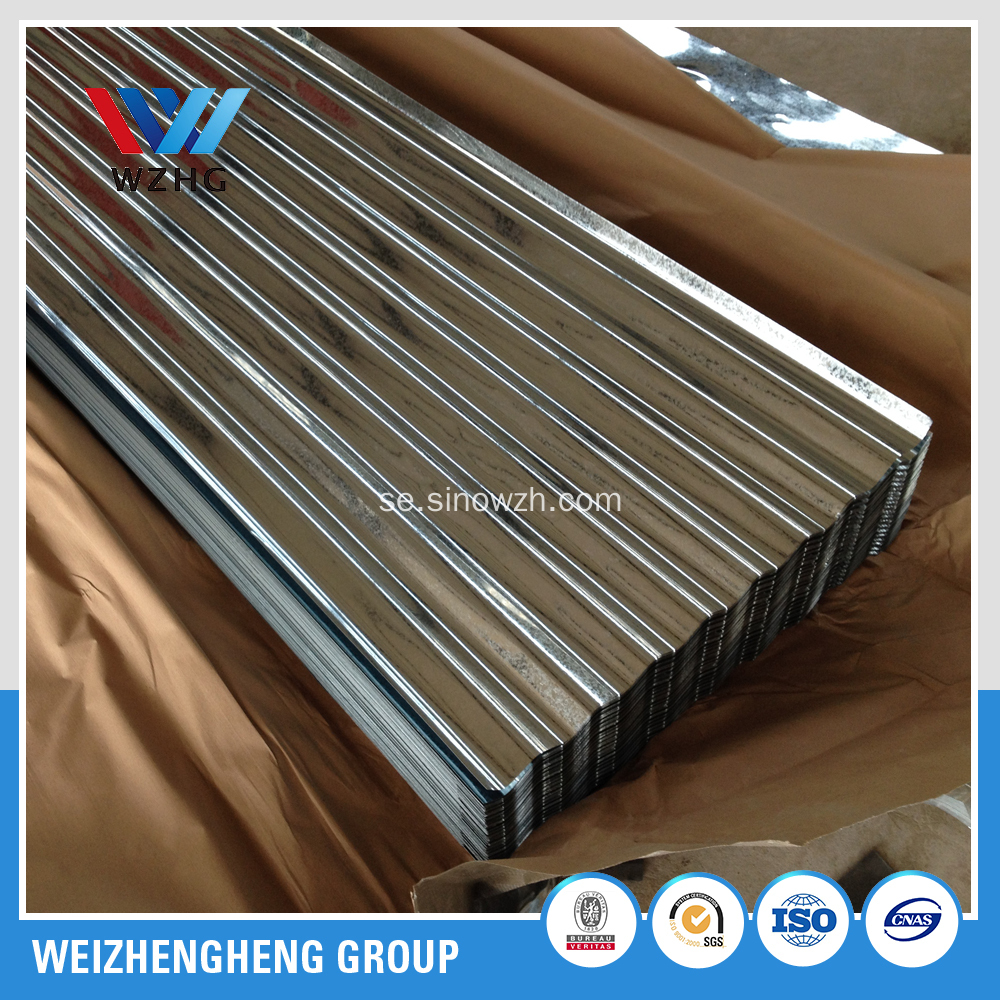 GI Hot-Dipped Galvaniserad Corrugated Roofing Sheet G60