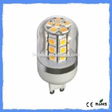 2014 nouveau produit G4 gel de silice ampoule LED 1.5w DC24V 27pcs 5050SMD ampoule led g4 g9