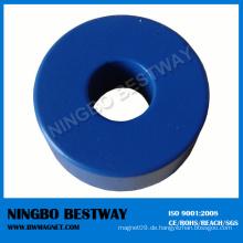 Blau vernickelter Ringmagnet