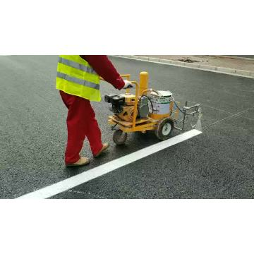 China cheap 5.5hp gasoline cold spray handpush road floor  line marking machine for sale