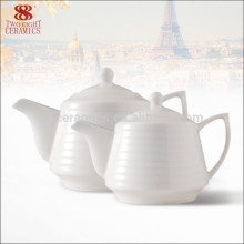 New Design White Porcelain Tea Pot