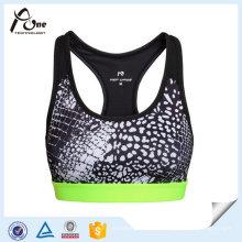 Gedruckte Gym Wear Breathable Sexy BH Unterwäsche