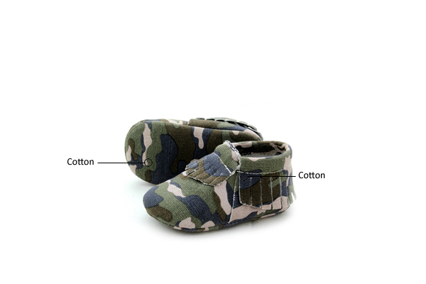 Camouflage Baby Moccasin Shoes