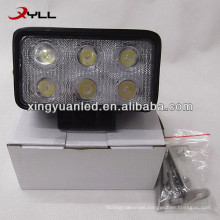 10V 30V 18W Auto rectangle LED Work Light spot flood beam SUV ATV 4x4 offroad headlight square worklight