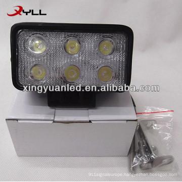 10V 30V 18W Auto rectangle LED Work Light spot flood beam SUV ATV 4x4 offroad headlight square worklight