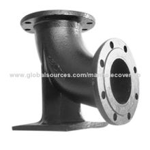 Ductile iron flanged pipe fittings for PVC pipes
