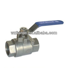 2PC dn8 ball valve vis se termine, plein Port 1000 PSI