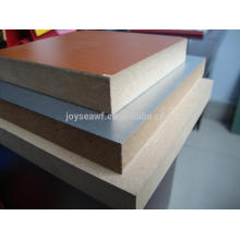12mm papel de melamina de 15mm face MDF bordo