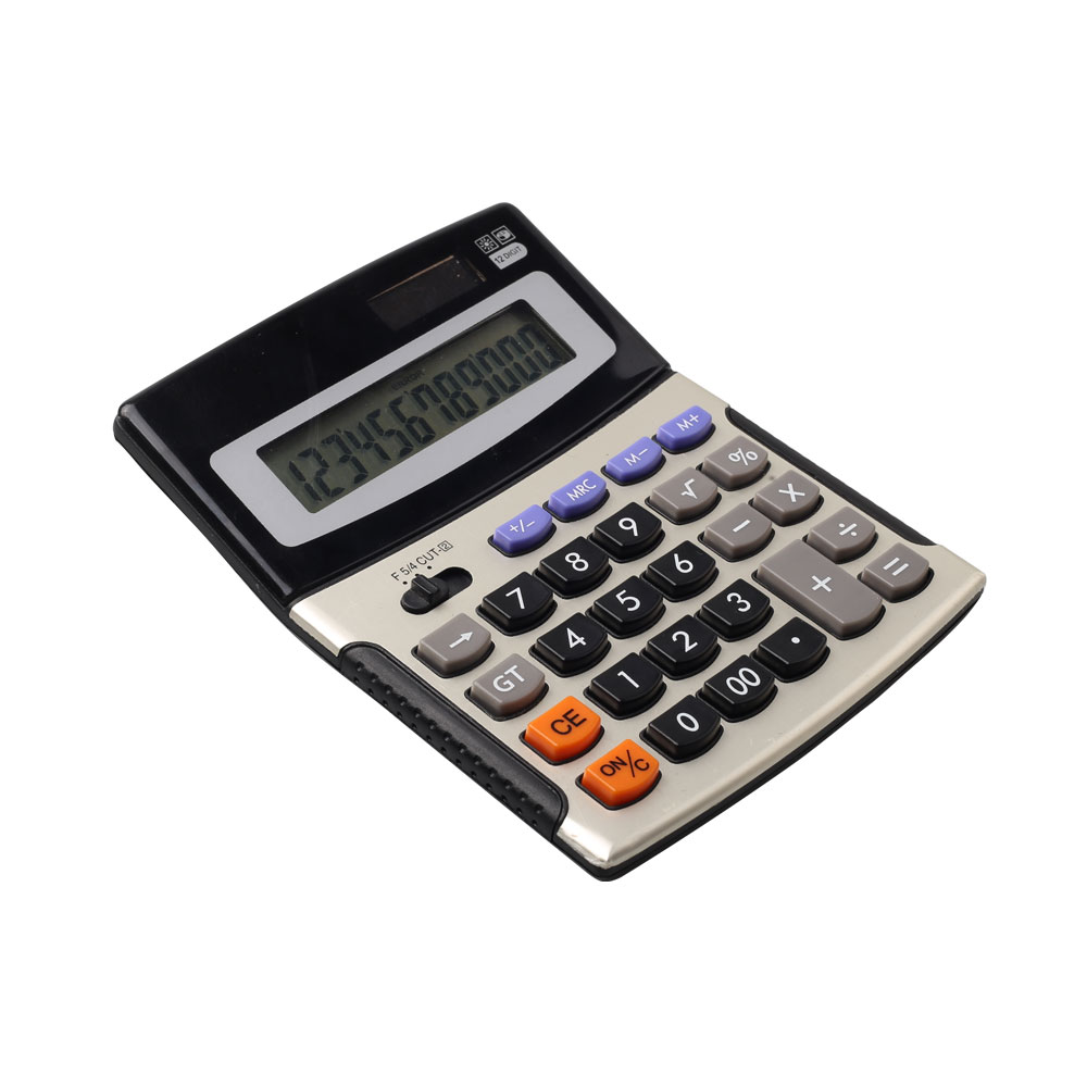 12 Digits Business Desk Calculator Met Dual Power