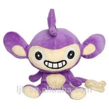 Diseño personalizado de peluche suave púrpura mono juguetes