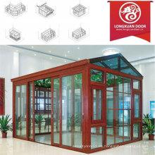 Factoy Sun habitación personalizada con marco de aluminio de calidad y el vidrio, el jardín de invierno de moda