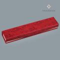 Caja de pulsera plegable de color rojo para regalo