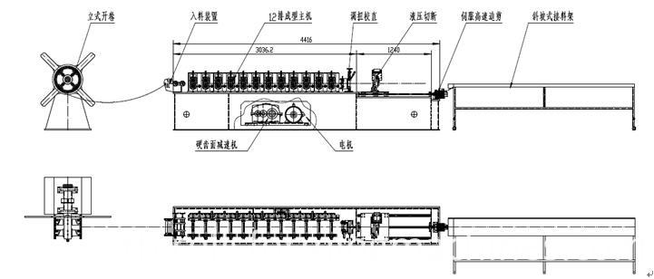 shutter door U guide machine U guide roll forming machine 2