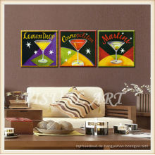 2015 Modern Leinwanddrucke Bar Art Deco, Cocktail Bild Digital Print
