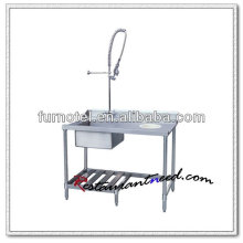 K146 Dish Clearing Table Top Dishwasher Mesa de lavaplatos de acero inoxidable