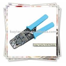 Ferramenta de crimpagem para RJ45 Modular Plug 6C & 8C Tipo de catraca