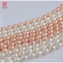 9-10mm Original Reisform Perlenstränge