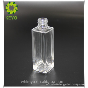 Clearly glass cosmetic packing white essential oil 30ml aluminum dropper bottle