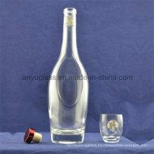 Moda clara en forma de whisky, ron, vodka, brandy, licor botellas de vidrio