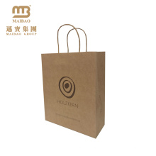 Bolsas de papel de empaquetado reciclables personalizadas FSC del regalo de Kraft / bolsa de papel artesanales marrones