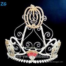 Высокий Хэллоуин Pageant Crown для детей, тыквы Хэллоуин короны
