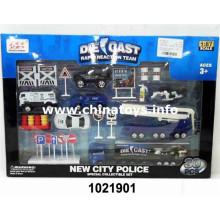 2016 Hottest Metal City Police Car Set Brinquedos Menino (1021901)