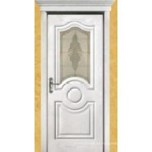 Puerta de pintura de chapa de madera (009)