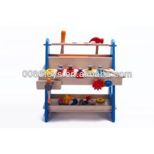 Wooden children tool play set