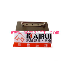 Metal Name Plate with Print Logo (m-NP04)