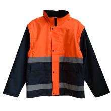Reflektierender Streifen-hoher Sicherheits-Mantel 300d Oxford (YKY2808)