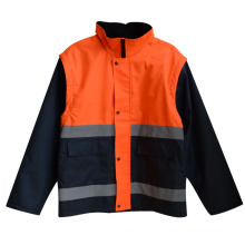 300d Oxford Reflective Strip High Visibility Safety Coat (YKY2808)