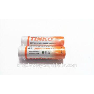 Li-FeS2&LF-AAA 1.5v 1200mAh Lithium low-priced battery
