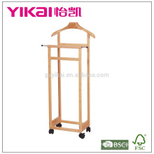 Верхняя распродажа вешалка для одежды из массива дерева с функцией
