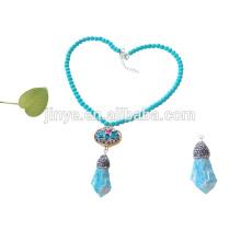 turquesa con cuentas de esmalte con cuentas de joyería hecha a mano al por mayor de china