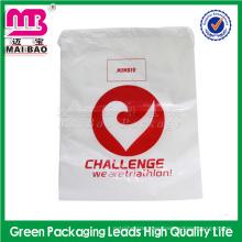 Bolsos de lazo plásticos de encargo impermeables de la mochila del saco del gimnasio de los deportes de la promoción