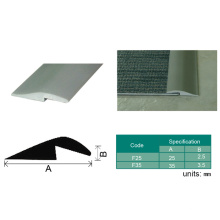 PVC-Vinyl-Bodenbelag, der Plastikrand-Ordnung, Boden-Übergangs-Streifen bedeckt