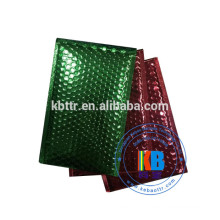 Aluminum foil color metallic poly plastic custom bubble mailer