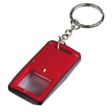 زر المكبر الخلية مع سلسلة المفاتيح الصمام الخفيفة