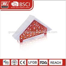 Tecido claro elegante caixa redonda / personalizado porta-guardanapo de plástico transparente