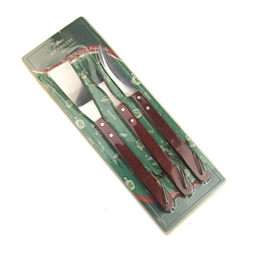 3pcs professional grade bbq utensils set