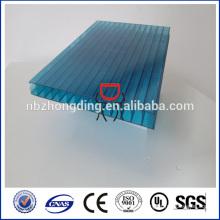 Revêtement UV Feuille creuse en polycarbonate 16 mm