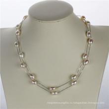 Snh 36inches длинное белое пресноводное женское жемчужное ожерелье