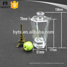 botella de fragancia del difusor del aroma del vidrio del hexágono