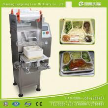 Máquina de sellado de caja de comida rápida Fs-600, Máquina de sellado de bandeja de arroz, Máquina de sellado de película de bandeja de ensalada