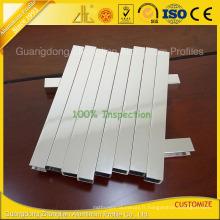 6463-T5 extrusions polies en aluminium polies pour la décoration d'accessoire de salle de bains